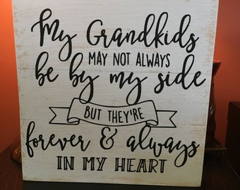 Grandkids sign, grandparent sign, grandparent gift