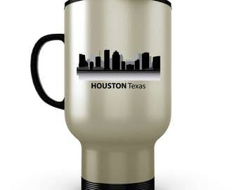 Houston, Texas Travel Mug - Stainless Steel