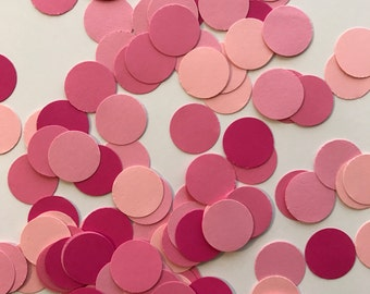Pink Confetti - Shades of Pink Confetti - Table Decorations - Girl Baby Shower - Girl Birthday Party - Pink Baby Shower Decor - Pink Wedding