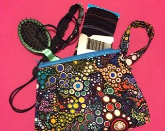 Pop of color makeup/clutch bag