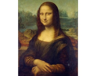 Leonardo da Vinci : Mona Lisa (1503) Canvas Gallery Wrapped Wall Art Print