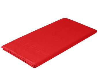 "54""X108"" Bright Red Tissue Rectangle Table Cover, table cover, tableware, party supplies, wedding supplies, birthday party, baby shower"