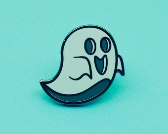 Ghosty | Ghost Pin Badge | Enamel Pin Badge | Hard Enamel Badge | Not an Emoji