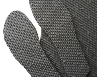 Natural rubber soles, sandal soles, crochet shoes soles, handmade shoes soles, shoemaking kit, black rubber soles