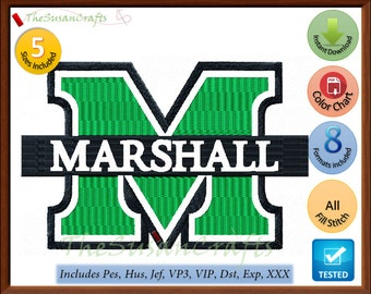 MARSHALL EMBROIDERY  DESIGNS Pes, Hus, Jef, Dst, Exp, Vp3, Xxx, Vip
