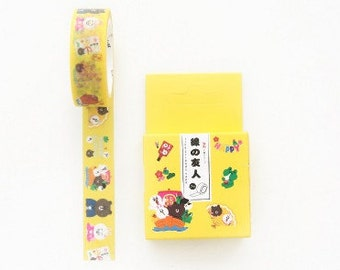 Line Friends Washi Tape,Masking Tape, Brown and Cony,Japanese,Decorative Sticker,Planner Sticker,Diary,Stationery