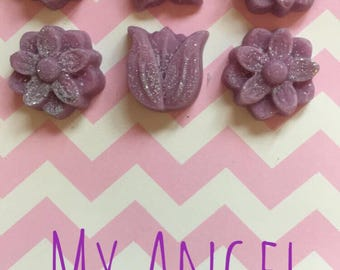 A pack of 6 My Angel highly scented wax melts
