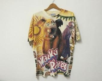 Sale!! Sale!! Vintage 90s Hanna Barbera Wacky Races Fullprinted Rare