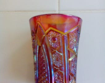 Carnival Glass Tumbler - Hobstar and Arches