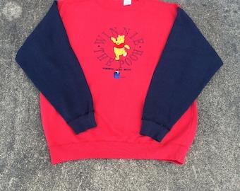 Winnie The Pooh Crewneck Jumper Sweater (Size XL) Dual Color Sweatshirt Tiger Piglet 100 Acre Wood Disneyworld Disneyland 80s 90s