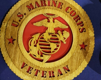 "12""Marine Corps Veteran wall tribute"