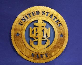 "United States Navy Senior Chief 12"" wall tribute"