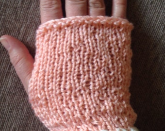 Child's Peaches and Cream Wrist Warmers