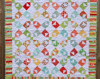 Love Notes Quilt, Lap Quilt, Quilted Throw, Sofa Quilt, Piano Keys Quilt