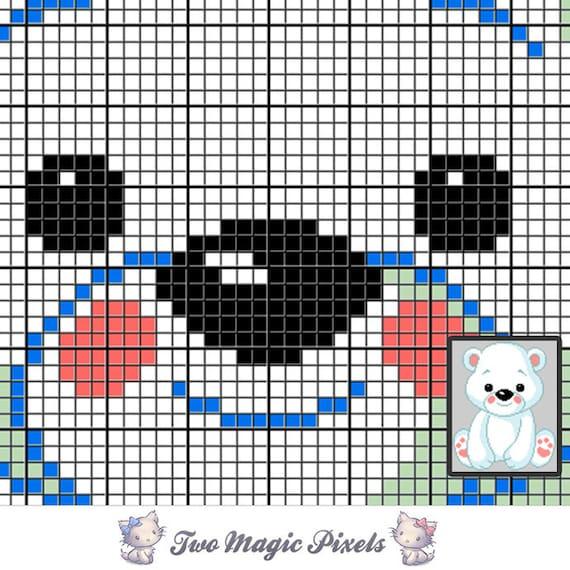 Baby Polar Bear Crochet Blanket Pattern; C2c, Cross Stitch