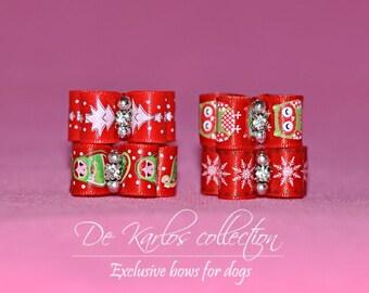 Christmas set bows for dogs set1220