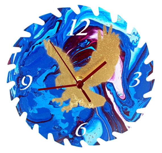 Eagles View Point Saw Blade Wall Clock