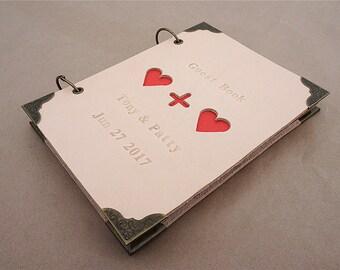 Leather wedding book custom wedding guest book  wedding guestbook wedding journal wedding notebook wedding keepsake leather journal diary