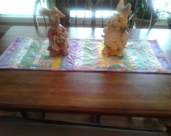 Easter pieced 16 x 43 table runner