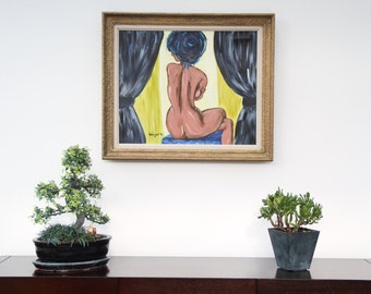 Painting framed oil painting female nude _