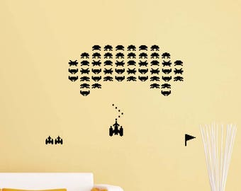 Retro Video Game Wall Decal Gaming Gamer Playroom Vinyl Sticker Home Room  Boy Bedroom Decor Kids