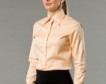 Tangerine pink Pastel Pretty Womens French Cuff Shirt