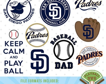 San Diego Padres SVG files, baseball designs contains dxf, eps, svg, jpg, png and pdf files. PB-017