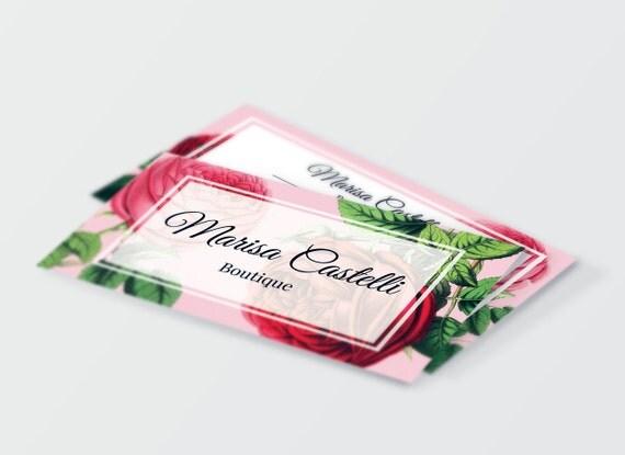 Feminine Vintage Roses Business Card