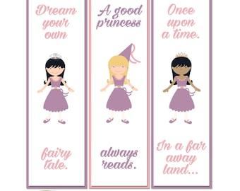 Pretty As A Princess Printable Book Marker Favours