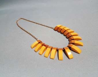 Bakelite and Wood Necklace