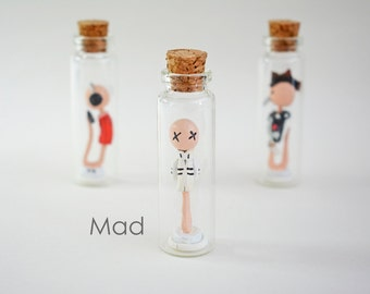 """Sperm Collection """"MAD"""" - Handmade miniature in a jar"""
