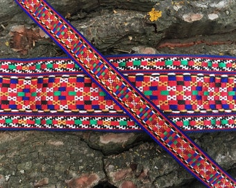 Multicolored Ethnic Ribbon in 3 Different Widths | Boho Ribbon || 5 cms / 4cms / 1,5 cms ||