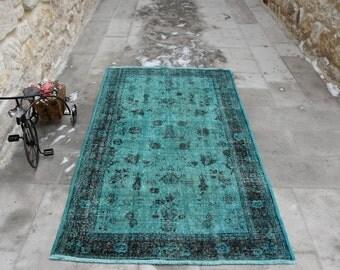 Vintage Rug Unique Rug 4x6.7 Ft Handmade Rug Decorative Rug Turkish