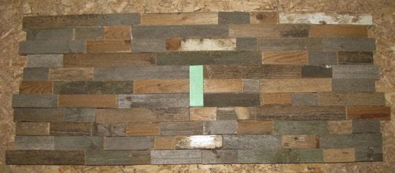 Recycled barnwood wall plague