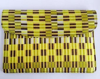 "13""-15"" Ankara Yellow Block Laptop Sleeve // African Print"