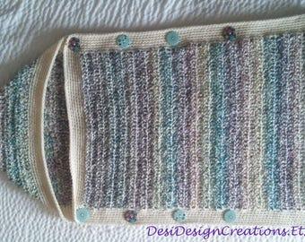 Crochet Baby Sleeping Sack, Baby Cocoon, Sleeping Bag, Baby Shower Gift
