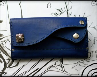 "Leather Wallet (Mini Clutch) ""Indigo"""