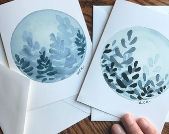 Blank notecards, Greeting cards, Handmade cards, Original cards, Watercolor cards
