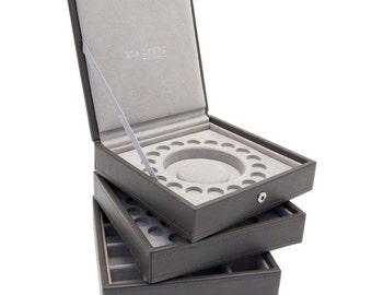 Stackers Set Of Three Mink Charm Bracelet Stacker Jewellery Trays LCCHARMSETMINK