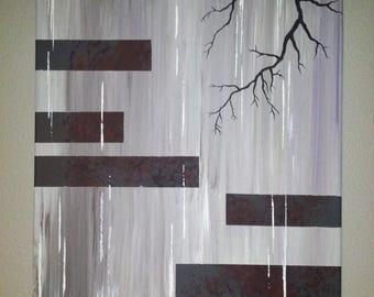 "14"" x 20"" Original Modern Abstract Acrylic Painting"