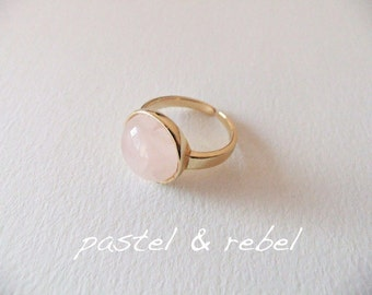Rose Quartz pastel Rosé ring