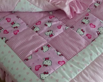 Hello Kitty baby/toddler quilt