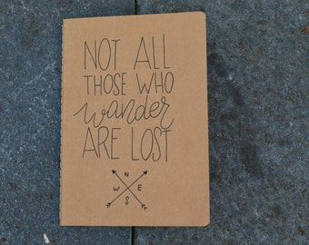 Notebook A5 not all those who wander are lost, JRR Tolkien, Lord of the rings, notebook