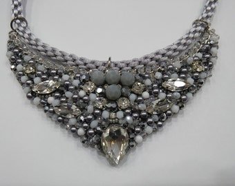 Necklace in grey tones