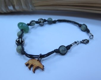 Bear in the woods anklet
