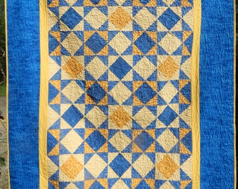 Patchwork Batik Star Quilt / Table Square