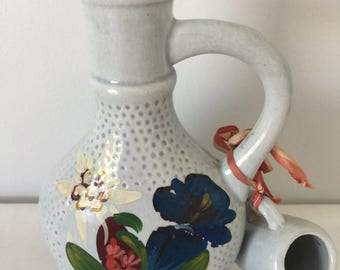 Vintage handmade ceramic vase/ jar and cup from Austria Salzburg