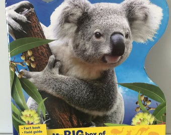 Book activity for children, Australian animals, education,game