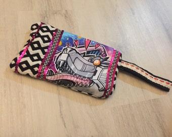 Supercute Grimlock purse/clutch/cosmetic/penicl bag