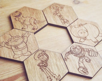 Toy Story Set of 6 Hexagonal Coasters